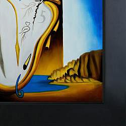 Salvador Dali Soft Watch at the Moment of Explosion Framed Canvas