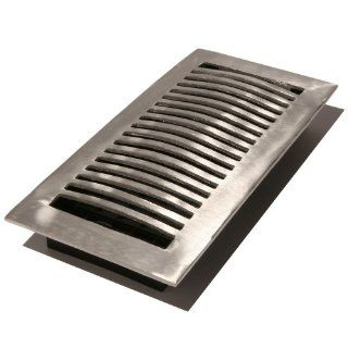 Decor Grates LA214 NKL 2 Inch by 14 Inch Aluminum Floor Register