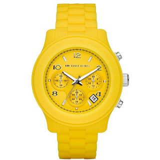 Michael Kors Womens Yellow Silicone Watch
