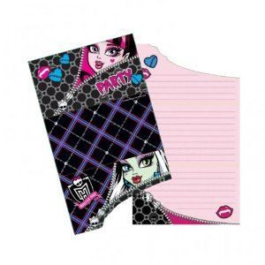 RIETHMULLER   6 Carte Invitation + Enveloppe   Monster High Birthday