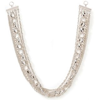 Styled by Tori Spelling (TM) Multi Chain Necklace Bottom Silver 1/Pkg