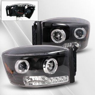Dodge Ram 06 07 08 Projector Headlights /w Halo/Angel Eyes ~ pair set