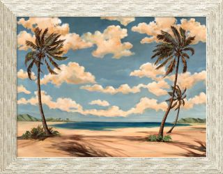 Paul Brent Palm Breeze III Framed Canvas Art