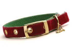 Designer Dog Collar ~ Velvet Christmas ~ by Dixie Digs (L