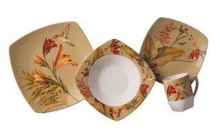 222 Fifth Antigua Dinnerware Set, Service for 4: Kitchen