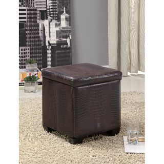 Crocodile Pattern Leather Storage Ottoman Stool Today $49.99 3.3 (3