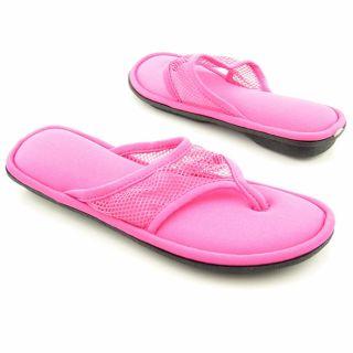 Smartdogs Womens Mesh Flip Flop Pink Sandal Shoes (Size 6.5
