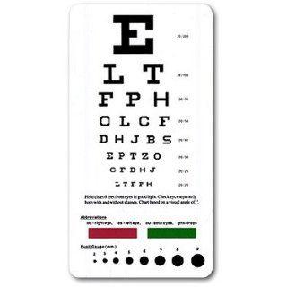 allheart Snellen Pocket Eye Chart: Health & Personal Care