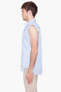 Comme Des Garçons Shirt Yarn Dyed Striped Vest for men