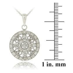 Icz Sonez Serling Silver Cubic Zirconia Medallion Necklace