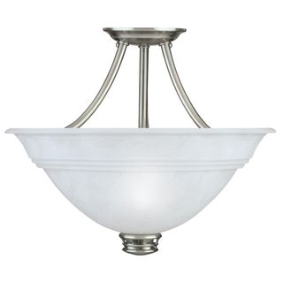 Transitional Antique Pewter 3 light Semi flush Fixture