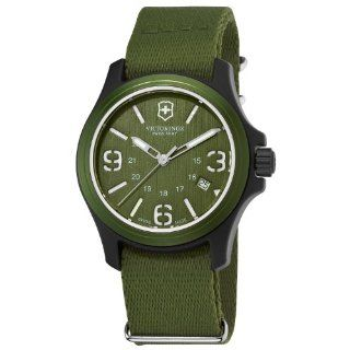 Victorinox Swiss Army Mens 241514 Original Green Dial and Strap Watch