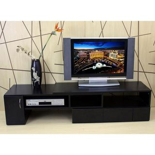 Dark Walnut Media TV Console Cabinet