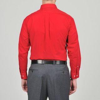 Alexander Julian Colours Mens Cranberry Dress Shirt and Stripe Tie