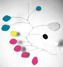 Atomic Baby Mobile   Hip Chic Nursery Decor   Calder
