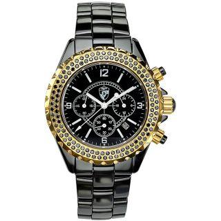 Heys USA Unisex Raku Black Ceramic Watch
