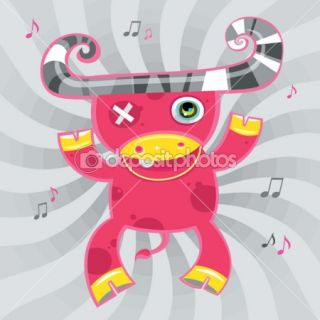 Cartoon ox  Stock Vector © Diana Pyzhova #1224704