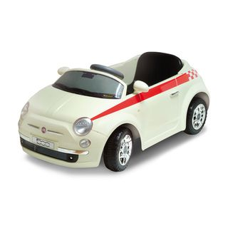 Motorama Jr. White Fiat 500 Ride on Car