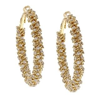 Morgan Ashleigh Goldplated Clear Glass Hoop Earrings