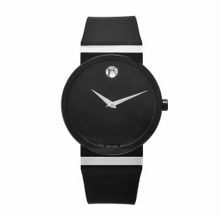 Movado Womens Synergy Black Rubber Watch Today $1,104.99