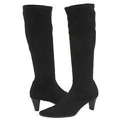 Vaneli Lilike Black Super Stretch Suede Boots