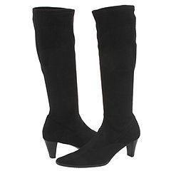 Vaneli Lilike Black Super Stretch Suede Boots