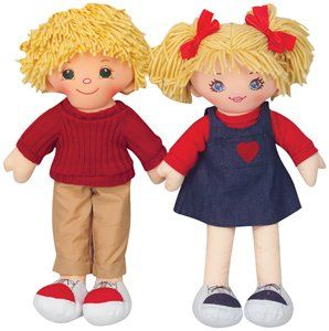 Multicultural Caucasian Girl Rag Doll Toys & Games