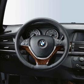 BMW Wood Steering Wheel Cover  Burr Walnut   X5 SAV 2007 2012