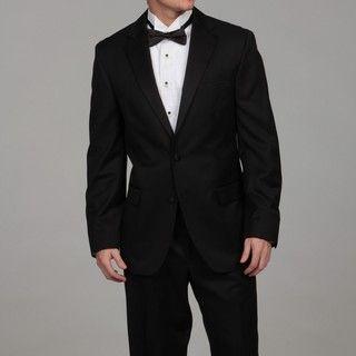 Geoffrey Beene Mens Black Wool Tuxedo