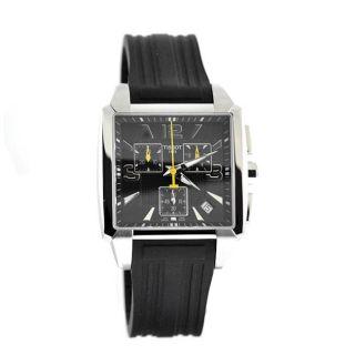Tissot Mens Quadrato Black Rubber Watch