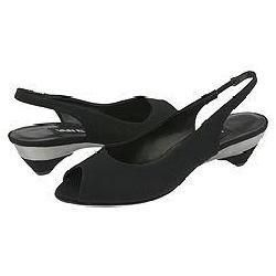Vaneli Francie Black Pesca Fabric Sandals