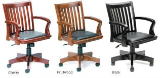 Boss Hardwood Bankers Office Chair