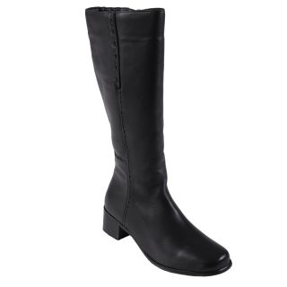 Oxford & Finch Womens Rope Stitched Genuine Leather Mid calf Boots