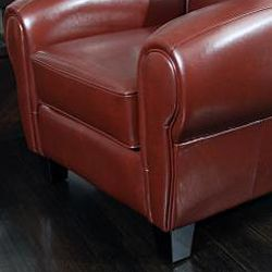 Finley Tan Bonded Leather Club Chair