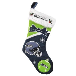 Seattle Seahawks Polyester Christmas Stocking