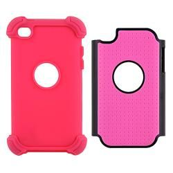 Pink/ Black Hybrid Armor Case for Apple iPod touch 4th Generation