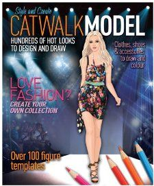Catwalk Model Clothes, Shoes & Accessories to Draw & Color Various