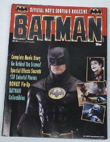 1989 Batman Michael Keaton Jack Nicholson Official Movie Magazine