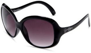 Jessica Simpson Womens J419 Oversized Sunglasses,Black