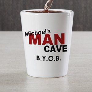 Personalized Shot Glasses   Man Cave