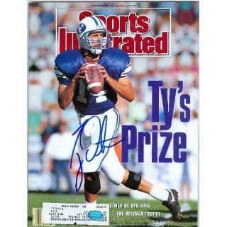 Ty Detmer (BYU) signed Sports Illustrated Magazine