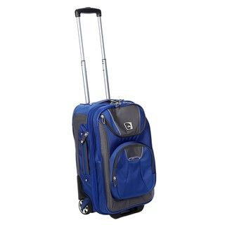 High Sierra ATGo Go Blue Carry on Rolling Laptop Upright