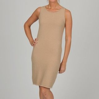 Adrienne Vittadini Womens Oat Bateau Sleeveless Dress