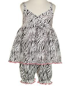 Mad Sky Boutique Girls Zebra Print Bloomer Set