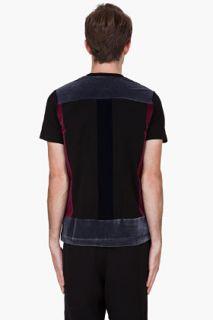 Christopher Kane Black Flock Panel T shirt for men