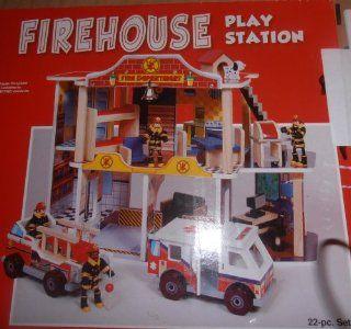 Firehouse Fire Station 22 pc Set KidKraft 63229 Toys