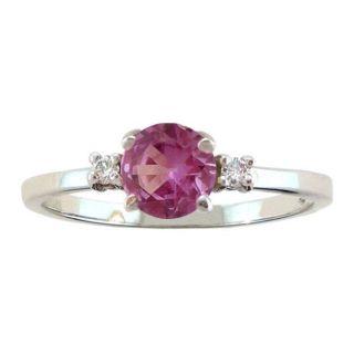 10k Gold June Birthstone Rhodolite and Diamond Ring Today $159.99 5.0