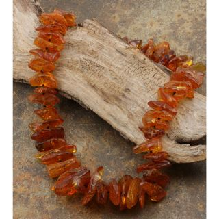 Honey Baltic Amber Chips Garland Necklace (Poland)
