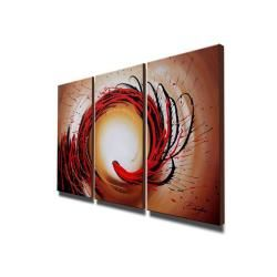 Abstract 349 Oil Paint 3 piece Canvas Art Set