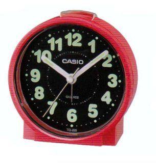 Casio #TQ228 4DF Round Travel Table Top Alarm Clock Watches